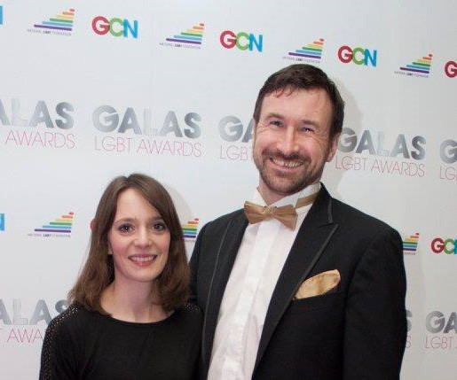 Valerid and Richard Carson at the GALA Awards.